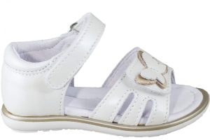 white butterfly sandal